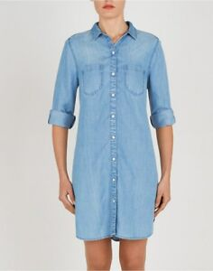 d70ea307c3 Image is loading Beach-Lunch-Lounge-lyocell-chambray-blue-Cleo-style-