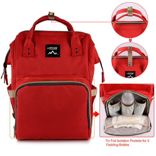Mummy Maternity Nappy Diaper Bag Large Capacity Baby Nursing Travel Backpack Lot