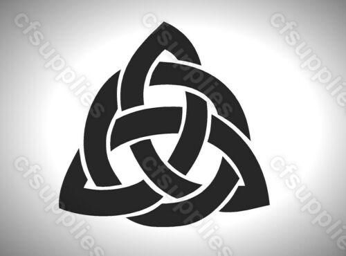 CELTIC//GOTHIC//TRIBAL melinex TRINITY KNOT STENCIL  A5//A4 *NEW 190 micron *