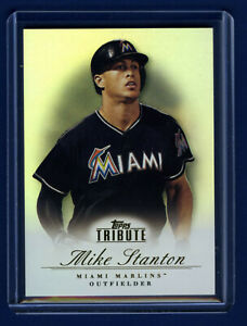 2012 TOPPS Tribute GIANCARLO MIKE STANTON Marlins and Yankees ! 22yr old !  🔥