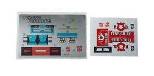 G1 Ratchet Complete Sticker Decal Sheet