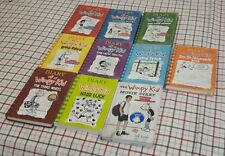 Diary of a Wimpy Kid - Lot of 10 books 1-8 - Bonus Do-It-Yourself & Movie Diary
