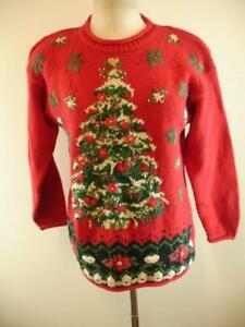 Womens Tree 1999 Xs S Mens Ps Heirloom Christmas rosso Maglione Collectibles brutto rnqrH68Bx