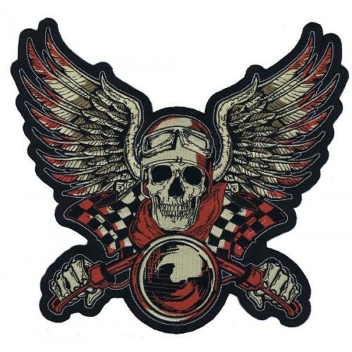 Lethal Threat Motorcycle Bike Jacket Embroidered Patch VINTAGE RED LT30135 XL