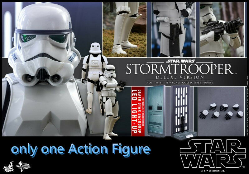 Hot Toys 1 6  Star Wars  MMS515 Stormtroopers Deluxe Edition Action Figure Model