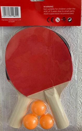 2 joueur de tennis de table ping pong Set comprend 3 Boules deux Paddle Chauves-souris
