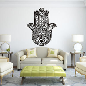 Image Is Loading Wall Vinyl Decals Hamsa Fatima Hand Eye Yoga