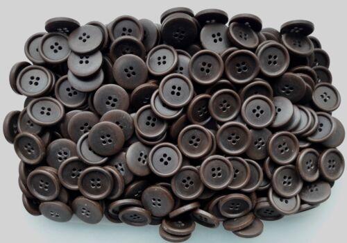 S108 20mm 32L Remolino Marrón Chocolate 4 botones de Artesanía Coser Cárdigan de agujero