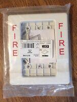 Est G1t-fire White Trim Plate For Est Genesis Fire Alarm Horn/strobe Devices