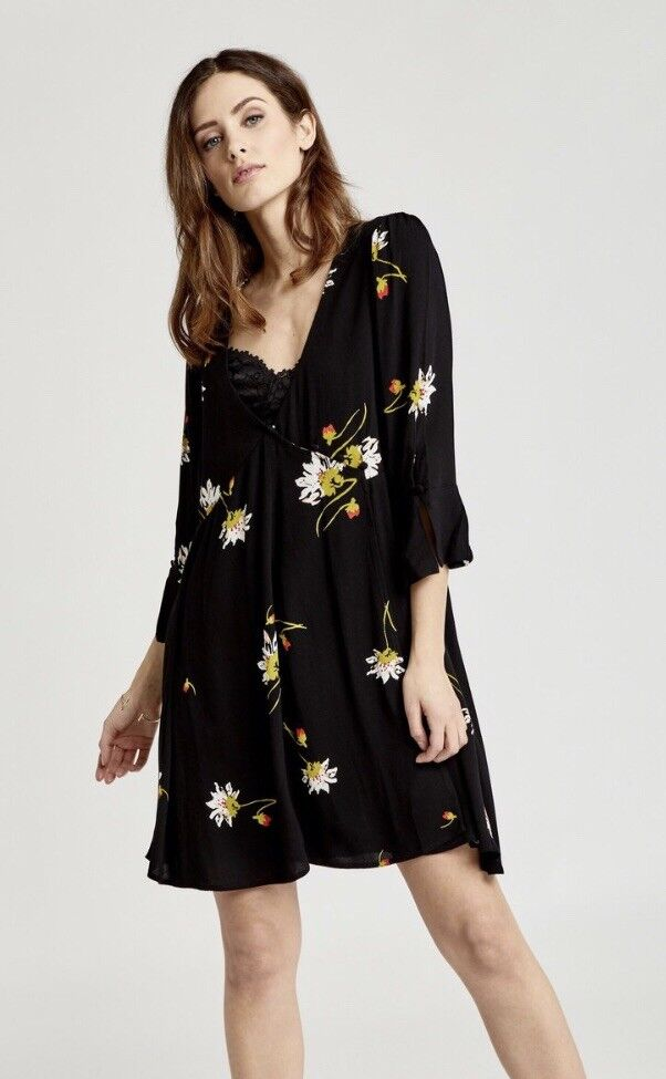 Free People Time On My Side schwarz Dress Größe Small NWT Retail