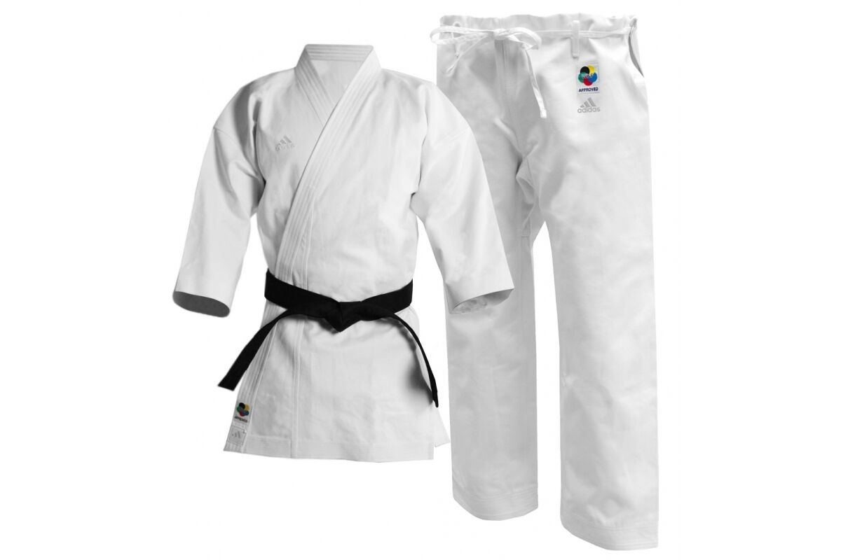 Adidas Heavy Karate GI Uniform 12oz Japanese Cut Kata Karate Suit Mens WKF Kigai