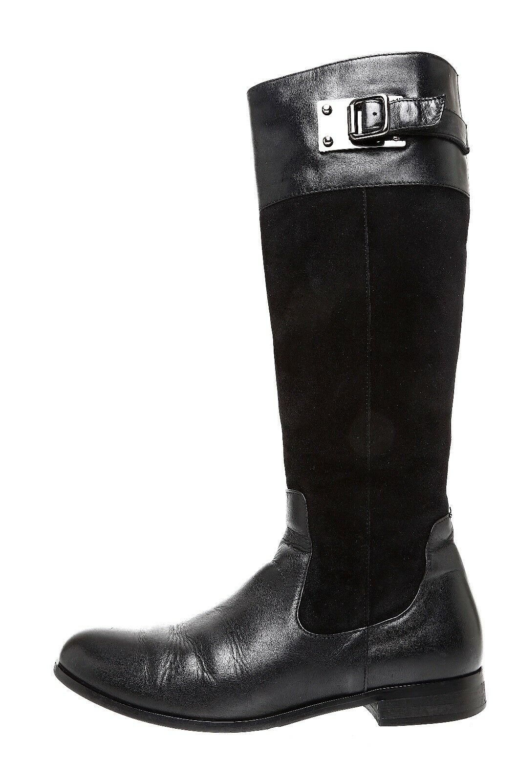 Aquatalia de By Marvin K. bota de Aquatalia gamuza cuero Drew Negro para Mujeres Talla 6.5 5986  3f86b2