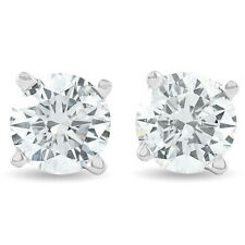 1.25 Ct Round Diamond Studs Earrings in 14K White or Yellow Gold
