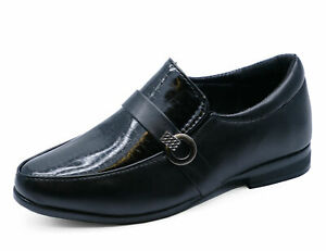 BOYS-KIDS-JUNIOR-BLACK-SCHOOL-SLIP-ON-SMART-WEDDING-LOAFERS-SHOES-SIZES-8-6