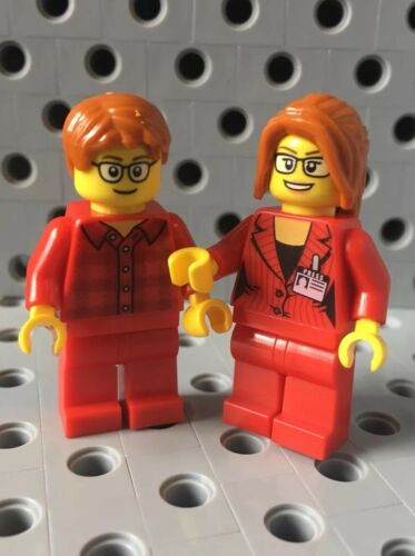 Lego Mini Figures Set Red Team Couple One Pair New
