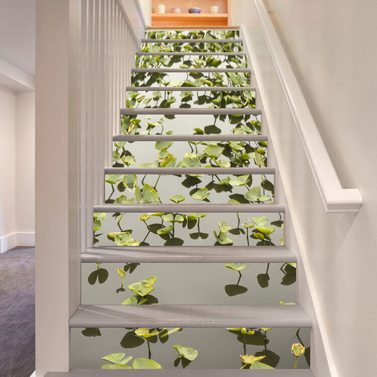 3D Water Plants 70 Stair Risers Decoration Photo Mural Vinyl Decal Wallpaper CA