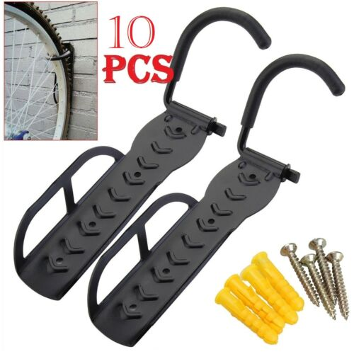 10x STEEL BIKE BICYCLE STORAGE WALL MOUNTED MOUNT HOOK RACK HOLDER HANGER STAND