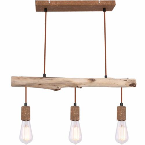Vintage Pendel Leuchte Decken Strahler dimmbar Holz Hänge Lampe Fernbedienung