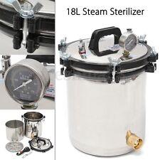 18L Steam Autoclave Sterilizer Dental Pressure Sterilization Dual Heating 2KW