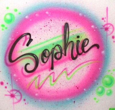 Airbrushed Best Mom Ever T-Shirt w// Any Names /& Bright Tye Dye Style Background