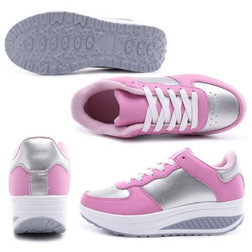 Womens Platform Shoes Shape Ups Toning Fitness Walking Sport Sneakers Comfy US