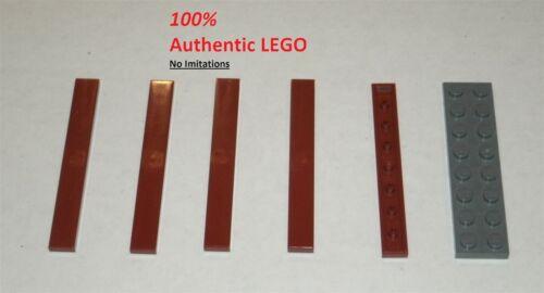 LEGO NEW 1x8 Dark Red Tile 4539083Brick 4162 5x