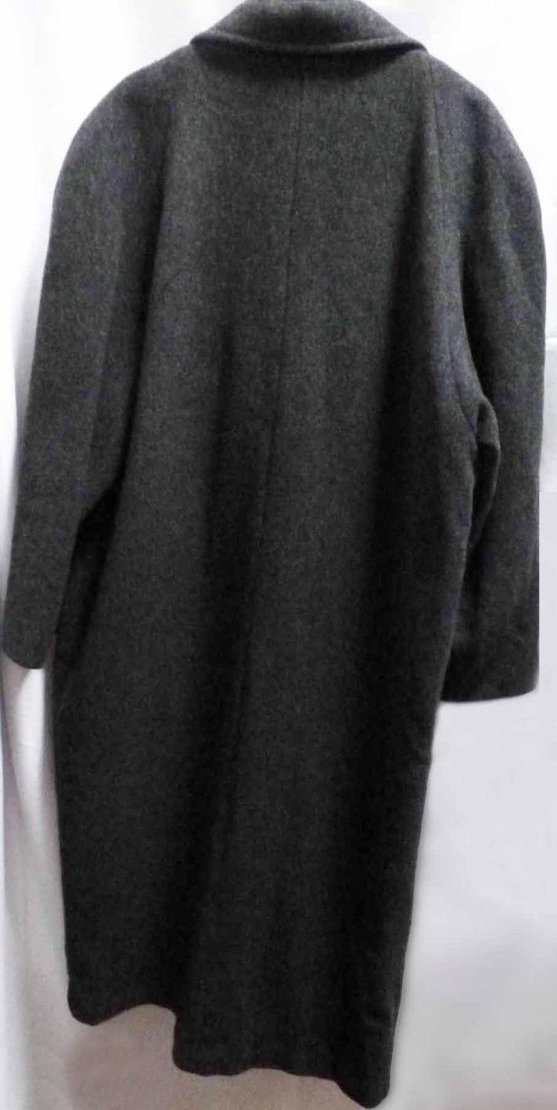 Vintage Gray Wool Top Coat Warm Heavyweight Overc… - image 3