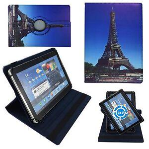 Huelle-fuer-Odys-NoteTab-PRO-LTE-Schutz-Tasche-10-Zoll-Tablet-Eiffelturm