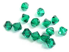 25 Swarovski Crystal Beads # 5301 Emerald 6MM