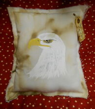 EAGLE America Home of the Brave Primitive style Pillow, Grungy, Patriotic, HP