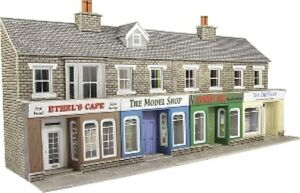 Metcalfe PO273 2 x Blocks of 2 Low Relief Shop Fronts Card Kit 00 Gauge T48 Post 5060157222736