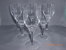 6 EXQUISITE BLACK CORE STEM SHERRY GOBLET GLASSES BELFOR BOHEMIA 5 3/8""