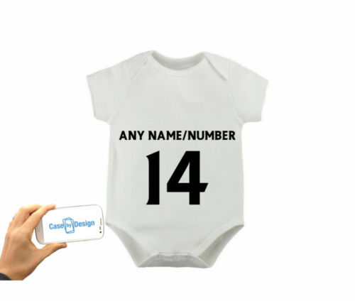FULHAM PERSONAL FOOTBALL BABYGROW DADDY SON GRANDAD NAME NUMBER 3 6 9 Months