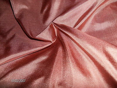"BITS & PIECES!  ANTIQUE ROSE SILK TISSUE TAFFETA~DOLL FABRIC~10""x44"""