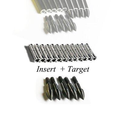 12pcs Bogenschießen Pfeile Arrow Insert 8-32 Thread+12pcs 100gr Pfeilspitze Auf Dem Internationalen Markt Hohes Ansehen GenießEn Pfeile & Komponenten