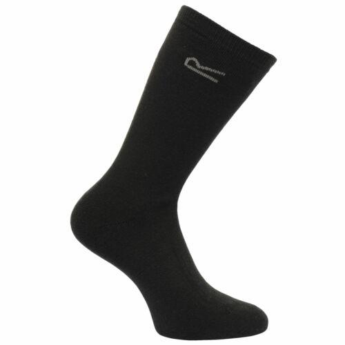 Regatta Men/'s 5 Pack Basic Thermal Loop Socks Black