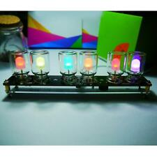 6pcs LED Colorful Light Cube Electronic DIY Kit Chromatography Glass Clock TD7C