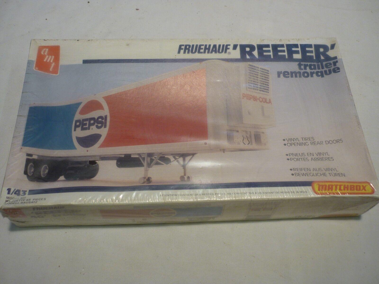A Vintage matchbox AMT un-opened plastic kit of a Reefer trailer, PEPSI