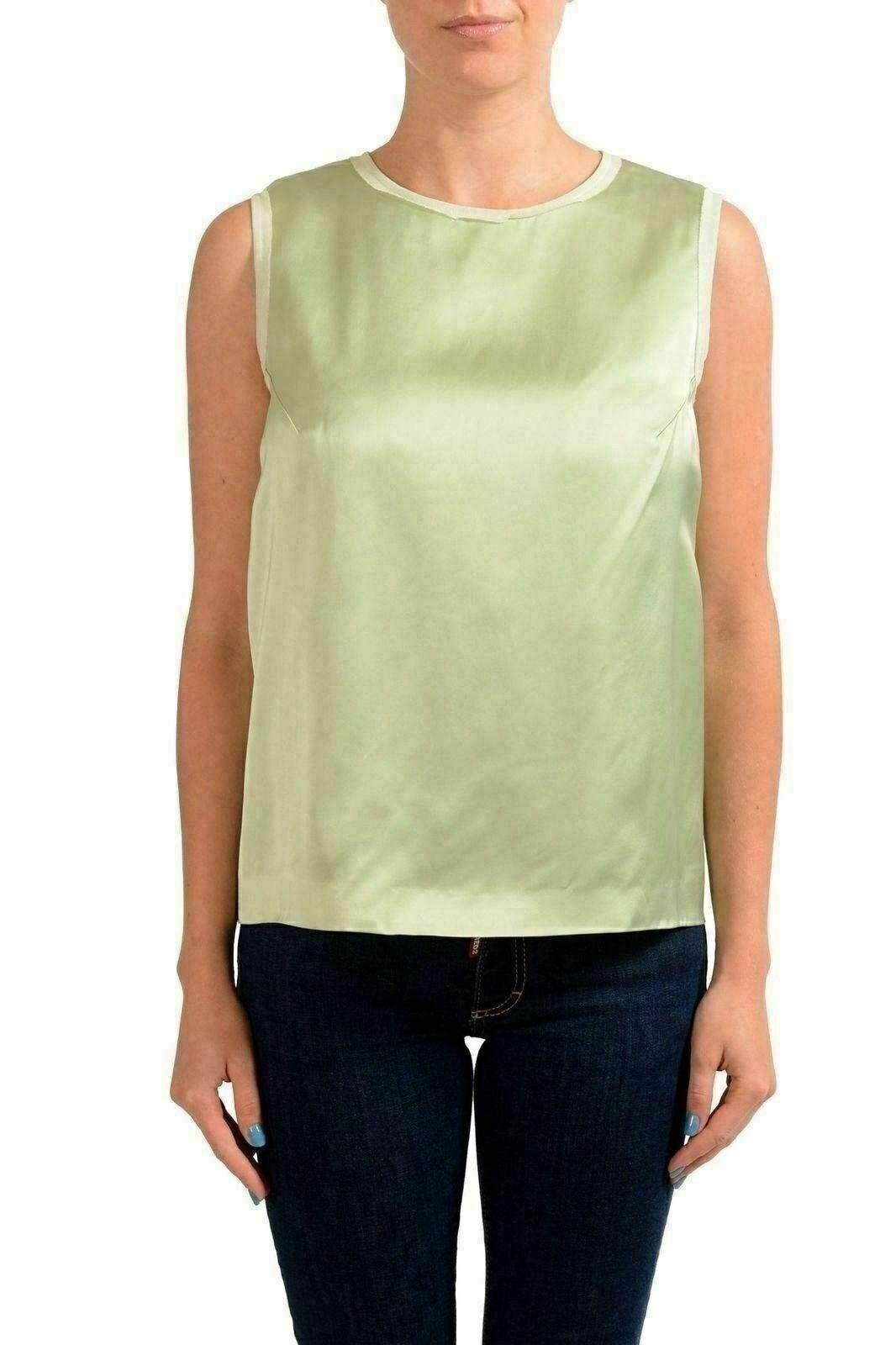 Maison Margiela 4 Light Green Women's Sleeveless Blouse US M IT 42