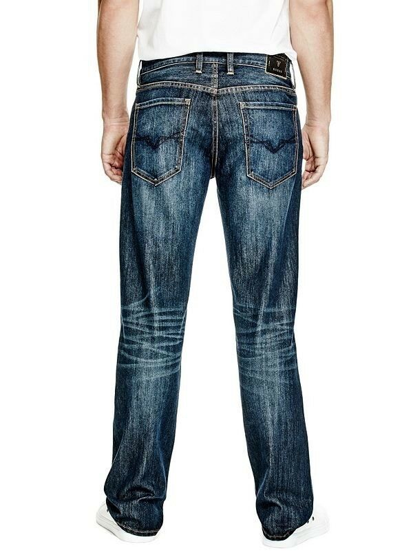 Guess Men's Relaxed Straight Leg Jeans In Thredtle Ride Wash Size 31X32