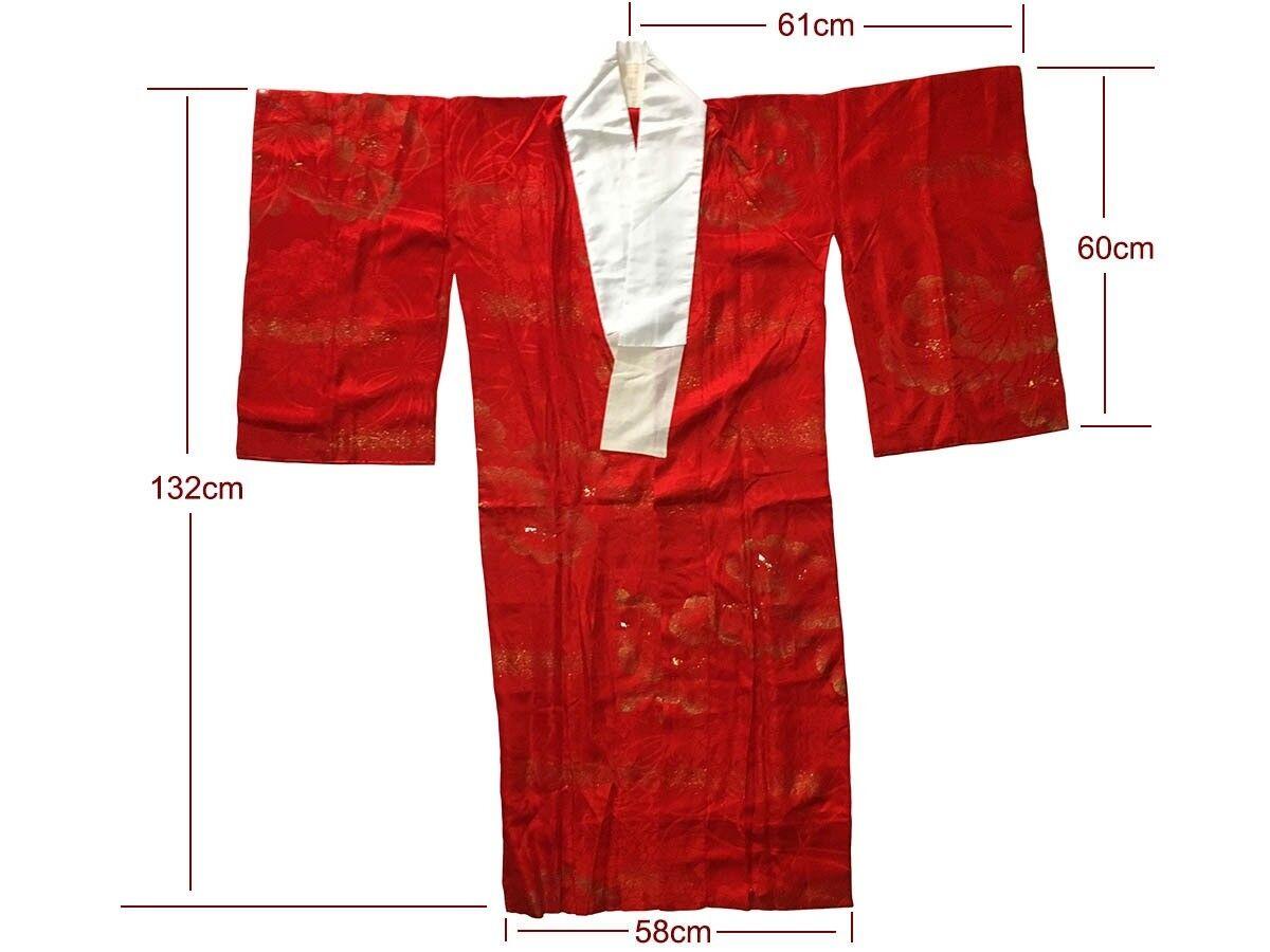 Vintage Up-Cycled Japanese Kimono Nagajuban 16x16 Handmade Pillow Cover 7