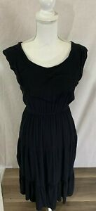 Women-039-s-Old-Navy-Ruffled-Sleeveless-Black-Broomstick-Skirt-Dress-Size-S-Petite