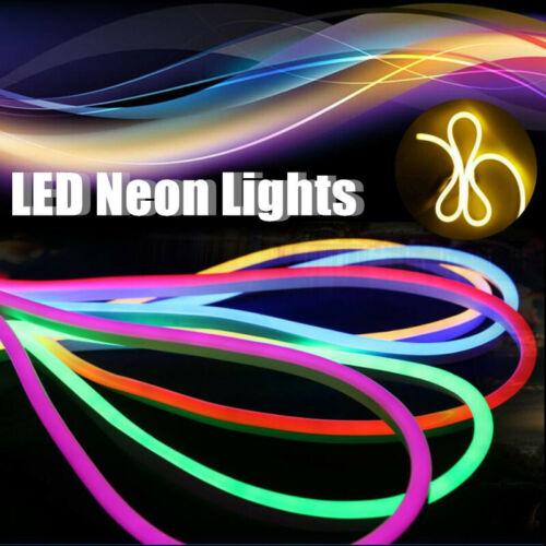 5M 120LED//M Corda De Neon Flexível Strip Light Outdoor Para Festa Casamento Decora com Tomada Americana