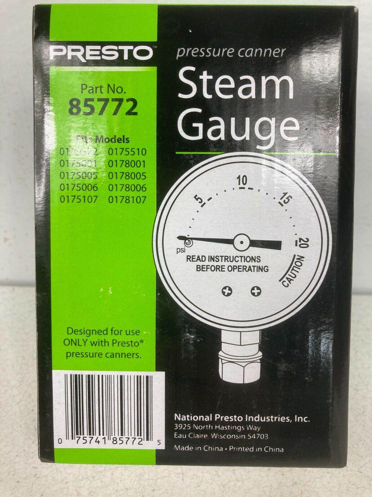 Presto 85772 Pressure Cooker Canner Steam Gauge For Sale Online Ebay