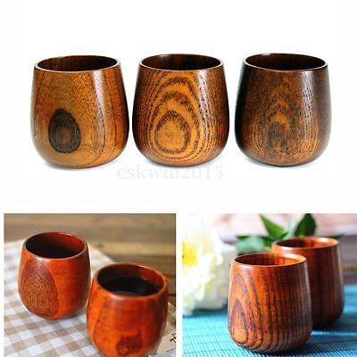 1x Primitive Handmade Natural Spruce Wood Wooden Cup Mug Breakfast Beer Milk