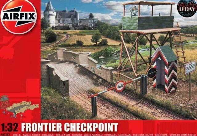 Airfix D-Day Frontier Checkpoint PASSAGGIO CONFINE kontrollposten 1:3 2 art.