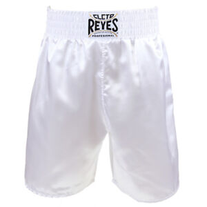 Cleto Reyes Satin Classic Boxing Trunks - White