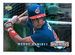 Manny-Ramirez-MM16-1994-Upper-Deck-Mickey-Mantle-039-s-Long-Shots-Indians