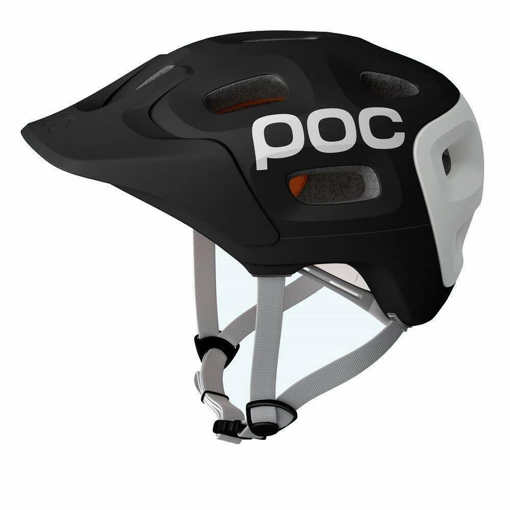POC Trabec Ciclismo Bici Bicicleta de seguridad al aire libre CASCO TAMAÑO XL XXL 59-62cm Negro blancooo