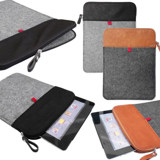 Felt Sleeve Case Cover Bag Vertical Felt Leather sleeve with ZIP for TABLETS